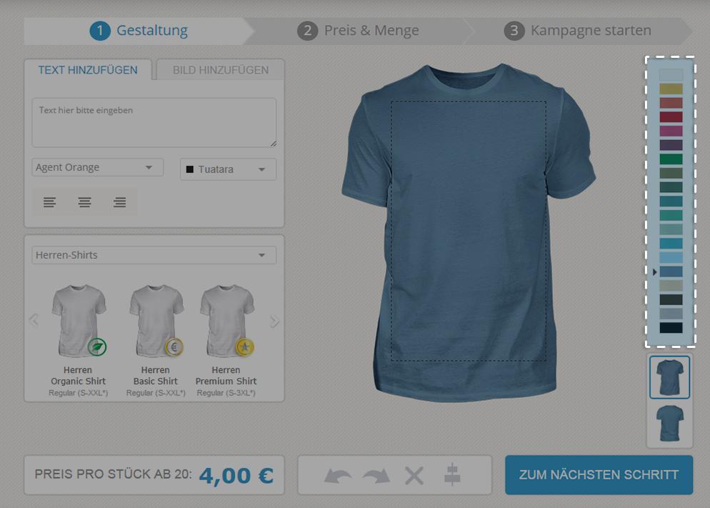 Wahl T-Shirtfarbe