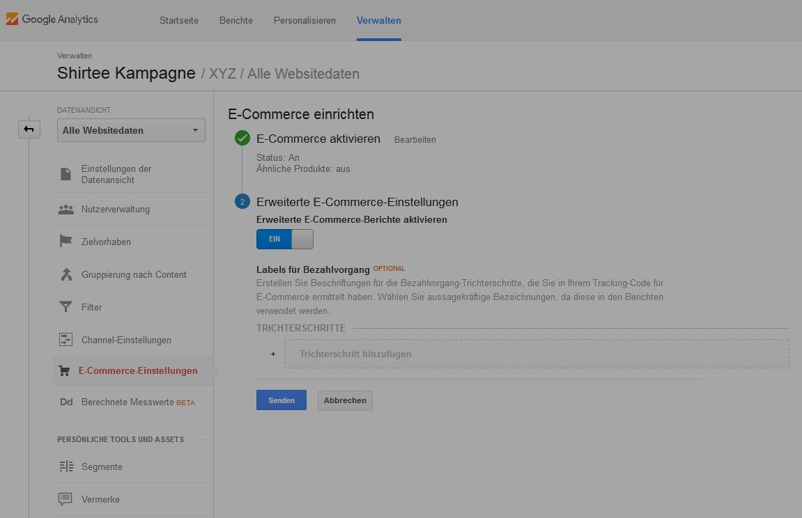 Auswahlbutton: E-Commerce
